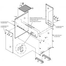 Réservoir à granulés de bois de 500 litres (en kit)
