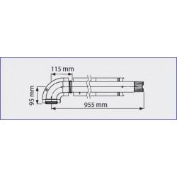 Kit coaxial pour chauffe-bain gaz Mini 12/16BF