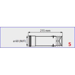 Terminal de sortie  flux forcé  pour chauffe-bain gaz Mini 12/16BF