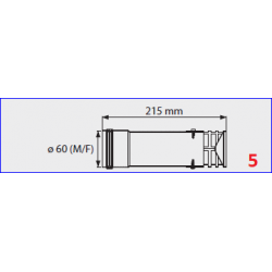Terminal de sortie  flux forcé  pour chauffe-bain gaz Mini 12BF -