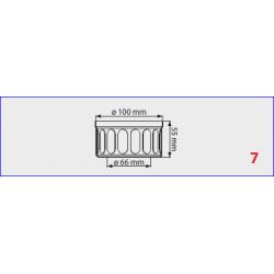 Adaptateur sortie  flux forcé  pour chauffe-bain gaz Mini 12BF