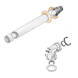 Kit horizontal coaxial 60/100 mm pour chaudière à condensation