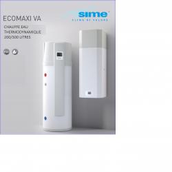 Chauffe-eau thermodynamique avec échangeur solaire ECOMAXI 200 litres_ErP