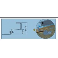 Kit fixation collecteurs suspendus pour toit incliné (tuiles Canal)