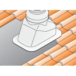 Sortie de toit inclinée coaxiale 80/125 mm pour chaudière à condensation