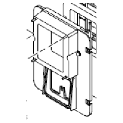 Porte d'adaptation pour passage de la chaudière SF8 aux granulés