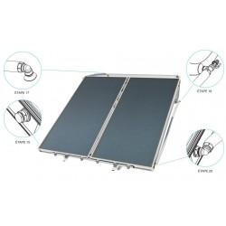 Chauffe-eau solaire 300 litres convection naturelle toit plat ou prairie